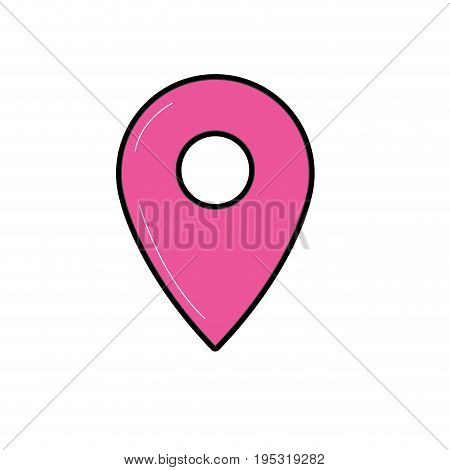 symbol to explore map location vector illustration