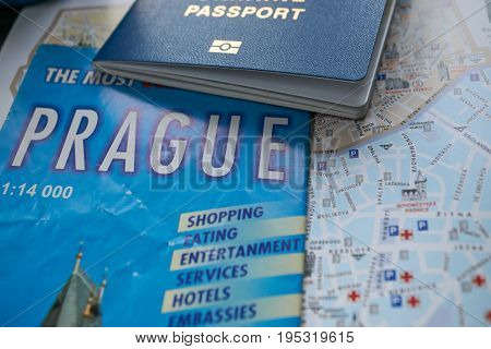 Map Of Prague Attractions And Reference Information