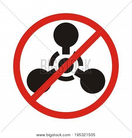 No chemical weapon sign. Forbidden chemical weapon. Vector illustration.