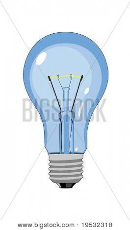 tungsten light bulb lamp on white background