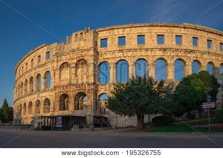 Roman arena in the dalmatian city of Pula