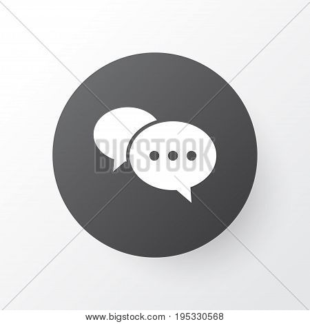 Comment Icon Symbol. Premium Quality Isolated Chatting Element In Trendy Style.