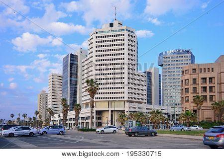 TEL AVIV ISRAEL- APRIL 2017: Herbert Samuel st. the center of Tel Aviv.