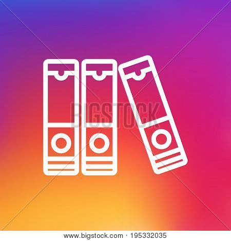 Isolated File Folder Outline Symbol On Clean Background. Vector Document Case Element In Trendy Style.