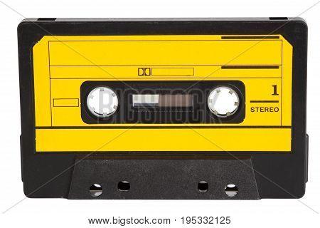 Retro Music Tape isolate on white background