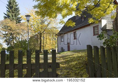 Old historic church in a village in Germany - Hessen