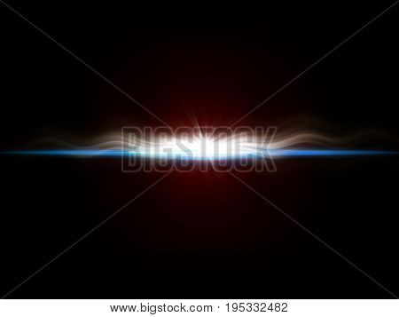 background image of defocused abstract lights and beam of light over dark background