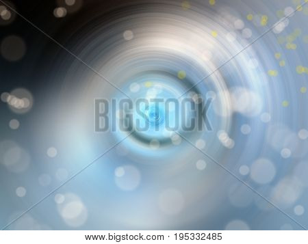 conceptual background image of defocused abstract lights and spiral vortex