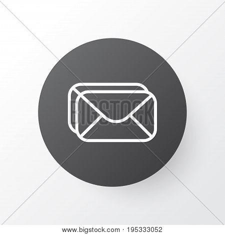 Inbox Icon Symbol. Premium Quality Isolated Mailbox Element In Trendy Style.