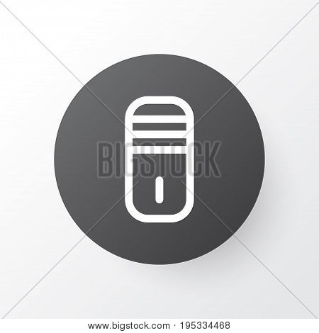 Processor Icon Symbol. Premium Quality Isolated Mainframe Element In Trendy Style.