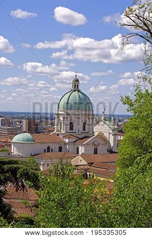 View from the castle of Brescia. Lombardy. Italy.