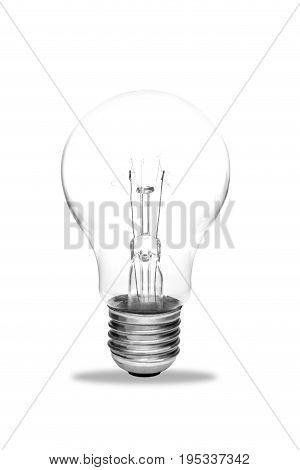Light bulb isolated Realistic photo image on white background