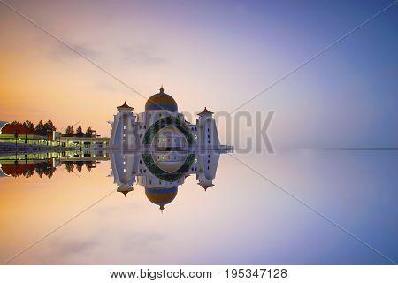 Malacca Straits Mosque ( Masjid Selat Melaka) It is a mosque located on the man-made Malacca Island near Malacca Town Malaysia