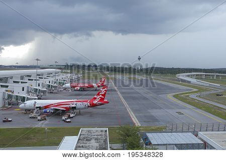 KUALA LUMPUR MALAYSIA May 12: KLIA 2 is the low cost terminal and home to AirAsia leading low cost airline.
