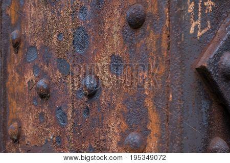 rust rusted rusty steel beam closeup -