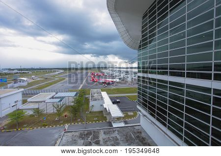 Kuala Lumpur, Malaysia, May 12: Klia 2 Is The Low Cost Terminal And Home To Airasia, Leading Low Cos