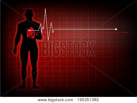 illustrator people with heart disease abstract background