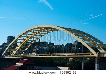 Big Mac Bridge in Cincinnati Ohio  over the Ohio river