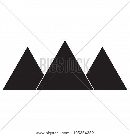 Egypt pyramids icon pyramid shape egypt pharaoh kheops pyramid