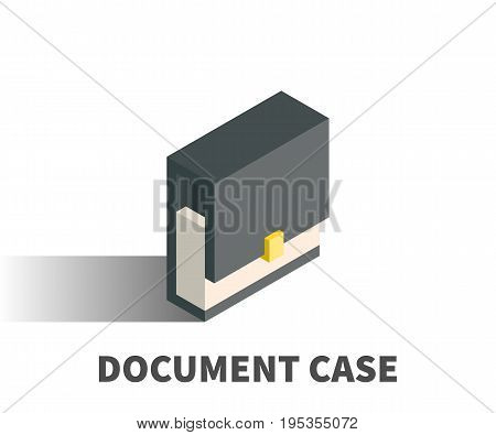 Document case icon vector symbol in isometric 3D style isolated on white background.