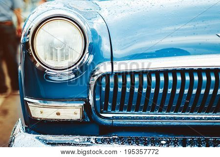 Headlight lamp vintage classic car - vintage effect style pictures