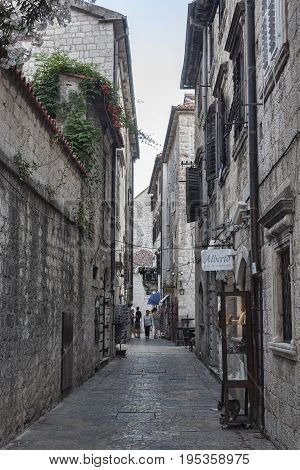 Narrow Streets Of The Old City Of Kotor Always Attract Tourists