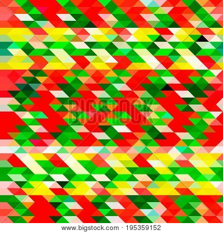 Seamless bright background in a red green color scheme. Will go to create New Year and Christmas cards posters booklets. Abstract geometric wallpaper.