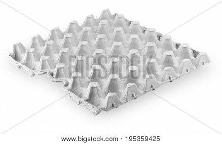 paper box for eggs tray on white background