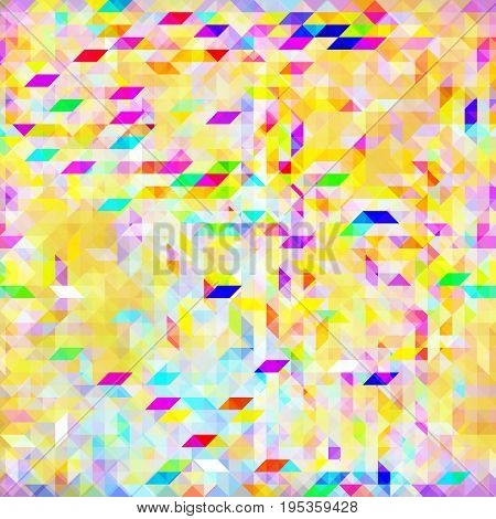 Seamless bright pattern with a sun glare effect. Background for the design of the surface. Abstract geometric wallpaper.