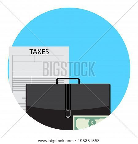 Taxes in business icon app. Tax money icon vector taxes due icons illustration of finance legal tax