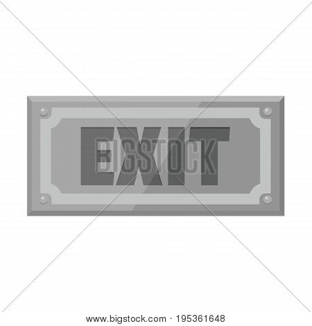 Metallic signboard with text exit for your design vector illustration isolated on white background metallic sign for city advertising