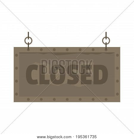 Metallic signboard with text closed for your design vector illustration isolated on white background metallic sign for city advertising