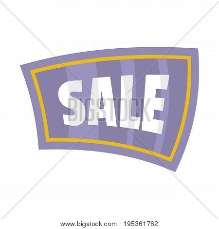 Flat signboard with text sale for your design vector illustration isolated on white background flat sign for city advertising