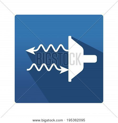 Thermography control pictogram. Industrial icon in trendy flat style on blue background. Thermography control pictogram for your web site design, logo, app. Vector illustration