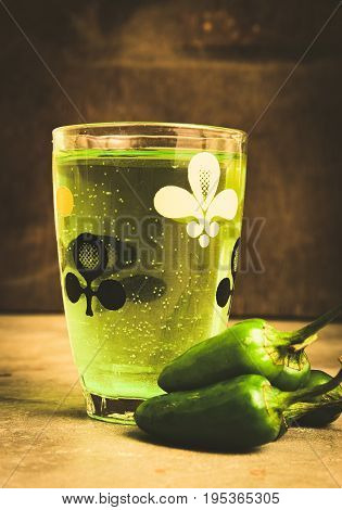 Green elixir - a wonder drink. Chill with this refreshment.