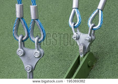 Rope Fixing To The Ground