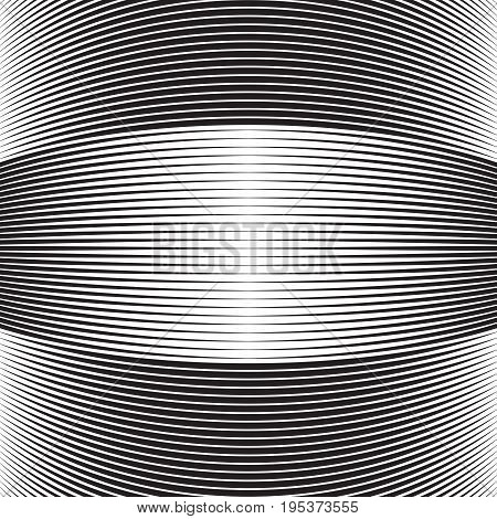 halftone curved lines. bulge stripes with lines
