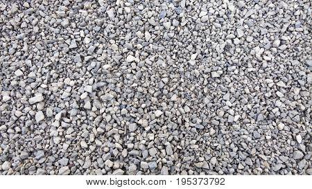 Crushed Stone Texture. Small Stones Background. Macadam