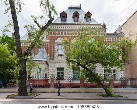 MOSCOW - July 5 2017: Exposition building of Timiryazev Biological Museum on July 5 2017 in Moscow. This building was built in 1898 it is object of cultural heritage of Federal significance.