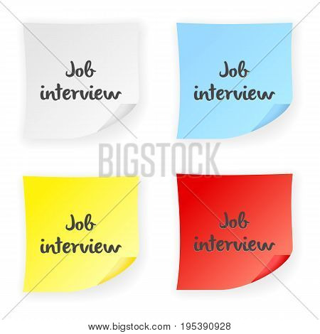 Stick Note Job Interview