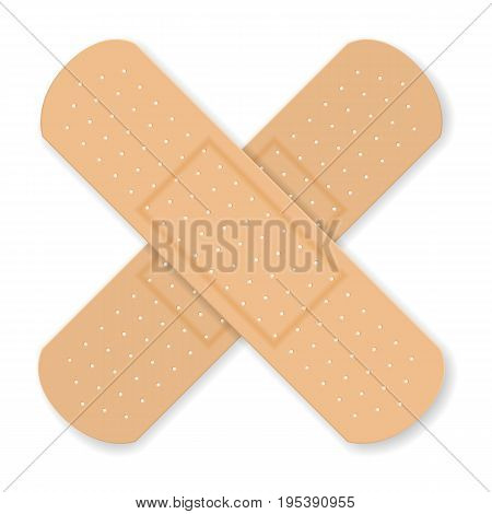 Sticking plaster on a white background. Vector illustration.