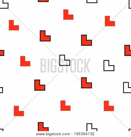 Seamless Modern Abstract Geometry Memphis Minimalism Pattern. Randomly Scattered Angle Geometric Sha