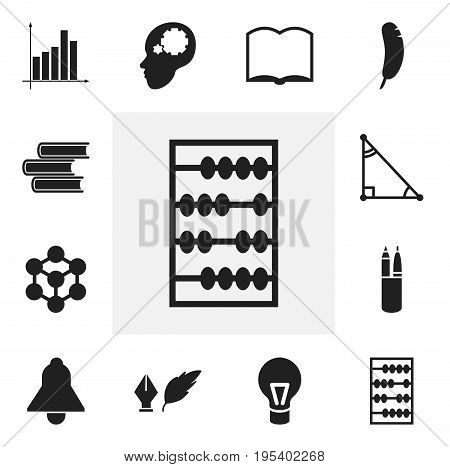 Set Of 12 Editable Science Icons. Includes Symbols Such As Triangle, Creative Idea, Library And More. Can Be Used For Web, Mobile, UI And Infographic Design.