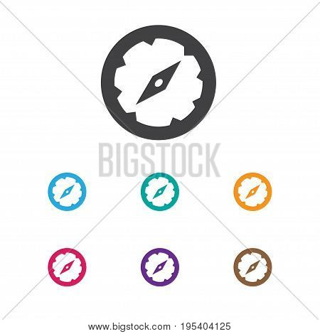 Vector Illustration Of Camping Symbol On Compass Icon. Premium Quality Isolated Navigation Element In Trendy Flat Style.