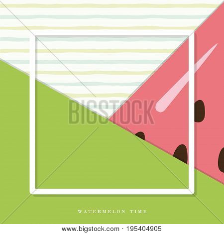 Summer abstract watermelon background. Vector illustration EPS10