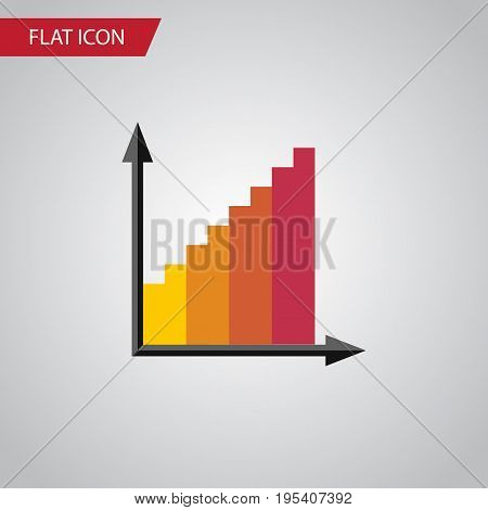 Isolated Statistic Flat Icon. Monitoring Vector Element Can Be Used For Monitoring, Graph, Statistic Design Concept.