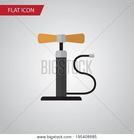 Isolated Pumping Air Flat Icon. Wheel Pump Vector Element Can Be Used For Wheel, Pump, Pumping Design Concept.
