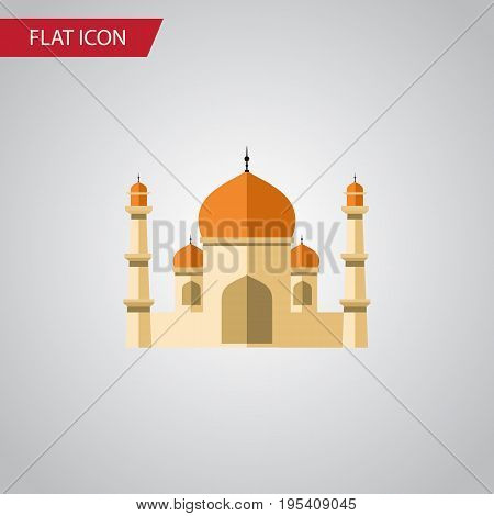 Isolated Minaret Flat Icon. Religion Vector Element Can Be Used For Minaret, Religion, Building Design Concept.