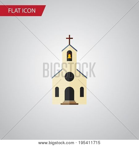 Isolated Church Flat Icon. Building Vector Element Can Be Used For Church, Building, Catholic Design Concept.