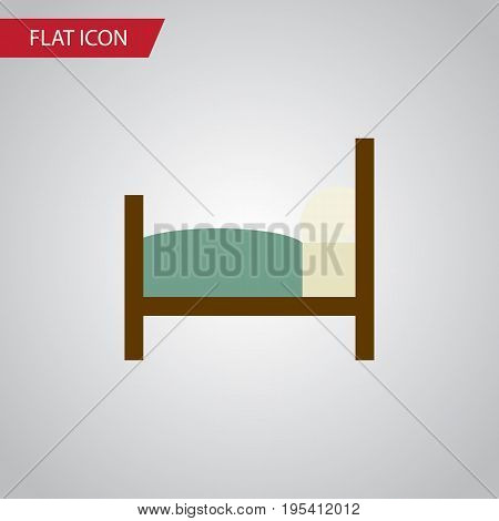 Isolated Bearings Flat Icon. Bed Vector Element Can Be Used For Mattress, Bed, Bearings Design Concept.